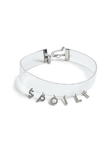 Topshop *'spoilt' Drop Choker Necklace