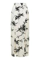 Topshop Bamboo Split Maxi Skirt