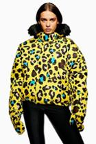 Topshop *leopard Print Jacket By Topshop Sno