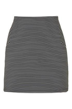 Topshop Tall Stripe Seam Mini Skirt