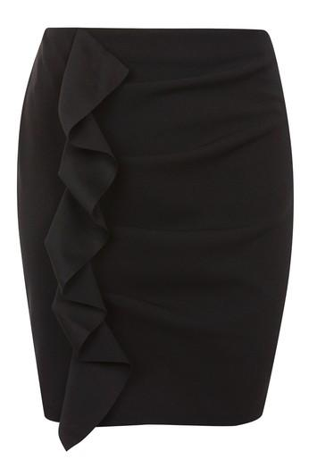 Topshop Ruffle Fall Jersey Mini Skirt