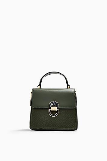 Topshop Celia Olive Cross Body Bag