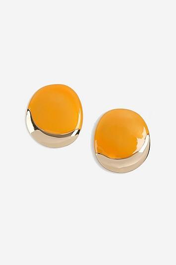 Topshop Oval Stud Earring