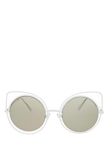 Topshop Magnus Wire Kitty Sunglasses
