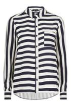 Topshop Contrast Stripe Shirt