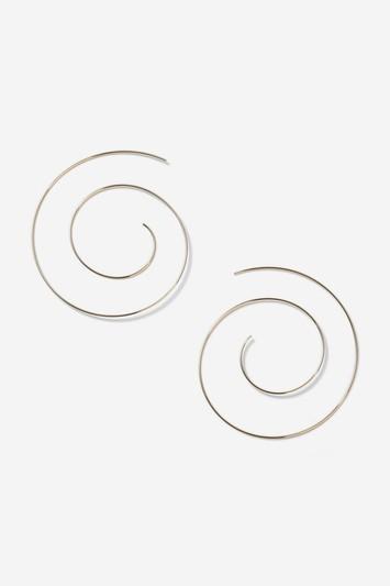 Topshop Mega Coil Hoop Earrings