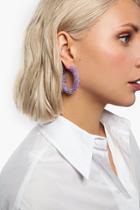 Topshop *facet Bead Hoop Earrings