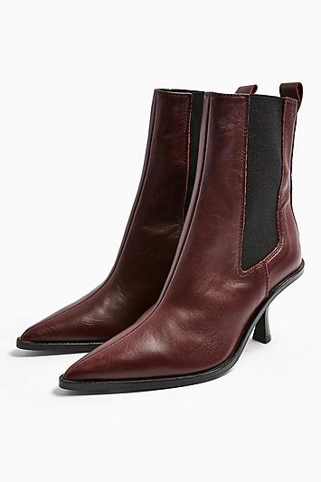 Topshop Madrid Leather Chelsea Boots