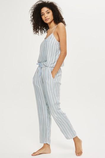 Topshop Brushed Striped Pyjama Trousers