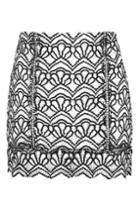 Topshop Petite Lace Mono Skirt