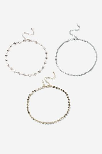 Topshop Clean Chain Anklet Pack