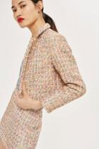 Topshop Boucle Cropped Jacket