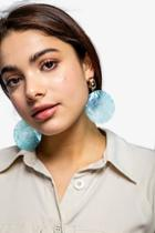 Topshop Shell Disc Drop Earrings