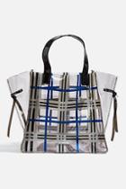 Topshop *mae Blue Tote Bag By Skinnydip