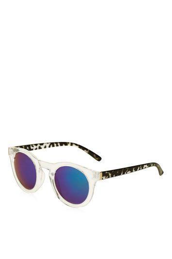 Topshop Lloyd Round Sunglasses