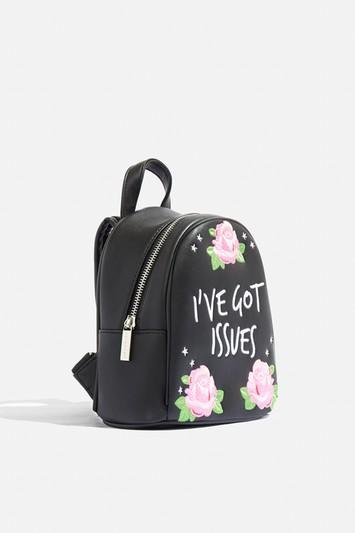 Topshop *julia Michaels I've Got Issues Mini Backpack By Skinnydip