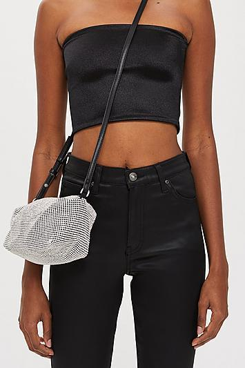 Topshop Chia Diamante Cross Body Bag