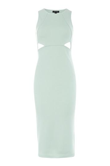 Topshop Cutout Ribbed Bodycon Dress