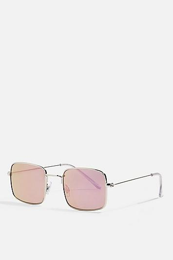 Topshop Metal Square Sunglasses
