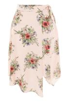 Topshop Petite Floral Wrap Skirt