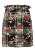 Topshop Past Time Check Mini Skirt