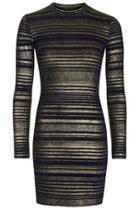 Topshop Petite Striped High Neck Bodycon Dress