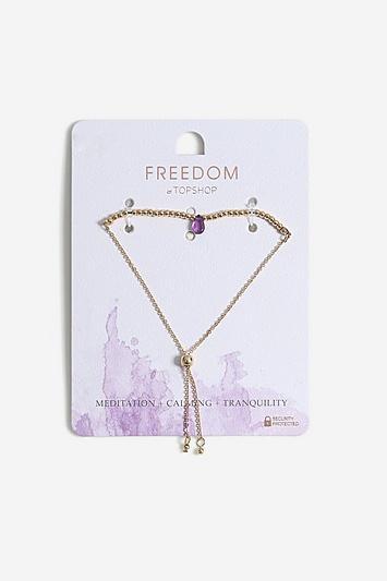 Topshop *healing Amethyst Stone Bracelet