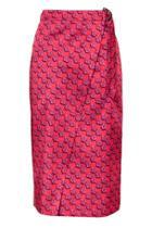 Topshop Lustre D-ring Midi Skirt