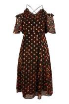 Topshop Leopard Spot Midi Dress