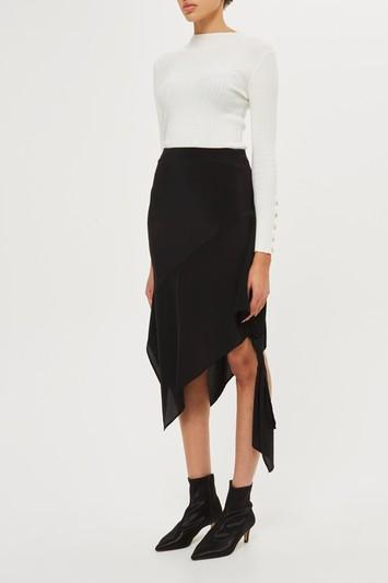 Topshop Knot Side Skirt By Boutique