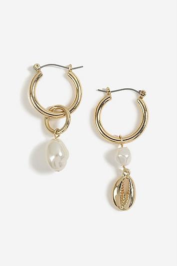 Topshop Asymmetric Pearl Drop Earrings