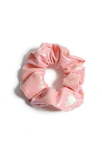 Topshop *pink Shine Hair Scrunchie