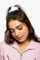 Topshop *pastel Blue Hair Scrunchie
