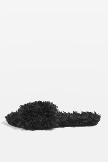 Topshop Hunt Furry Slippers