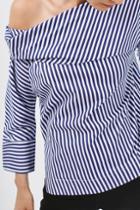 Topshop Twist Stripe Top By Boutique