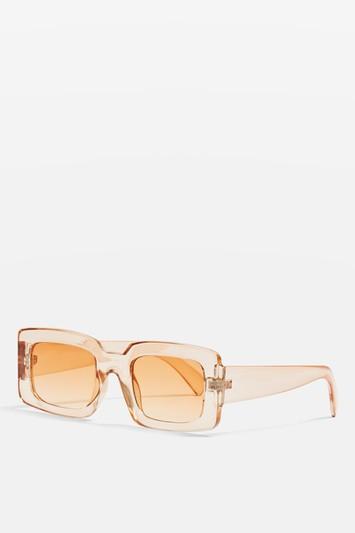 Topshop Willis Rectangle Frame Sunglasses