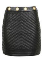 Topshop Quilt Eyelet Skirt