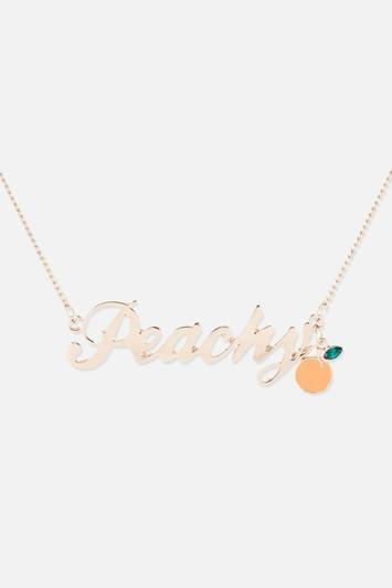 Topshop *peachy Necklace By Skinnydip
