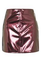 Topshop Moto Vinyl A-line Skirt