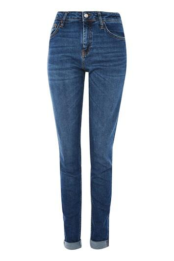 Topshop Tall Dark Relaxed Fit Lucas Jeans