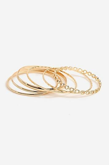 Topshop *pack Of Gold Bangles