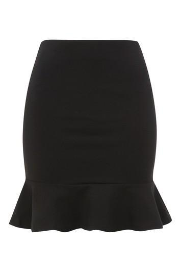 Topshop Peplum Hem Mini Skirt