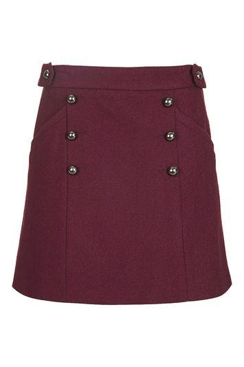 Topshop Melton A-line Skirt