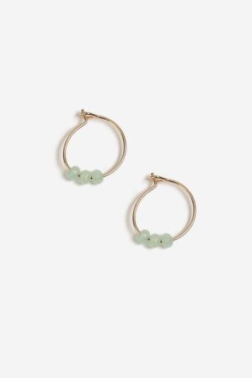 Topshop Aroma Aqua Hoop Earrings