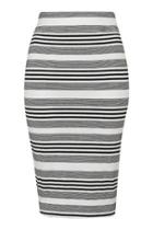 Topshop Petite Stripe Tube Skirt