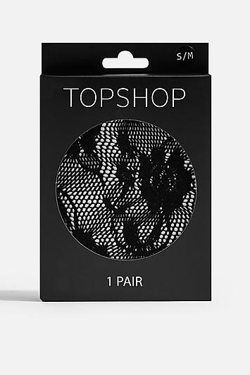 Topshop Floral Lace Tights