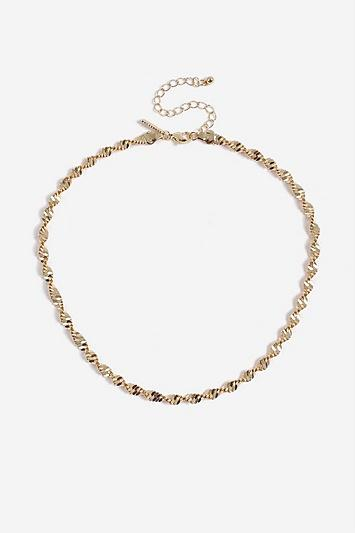 Topshop *thick Twist Chain Necklace