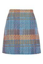 Topshop Woven Craft A-line Mini Skirt