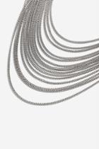 Topshop *fine Chain Multirow Necklace