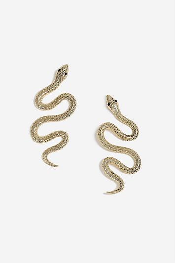 Topshop Snake Drop Stud Earrings